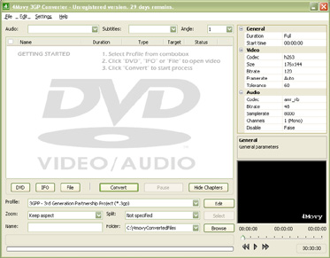 Converting DVD and video to 3GPP(*.3gp) and 3GPP2(*.3g2) and vice versa