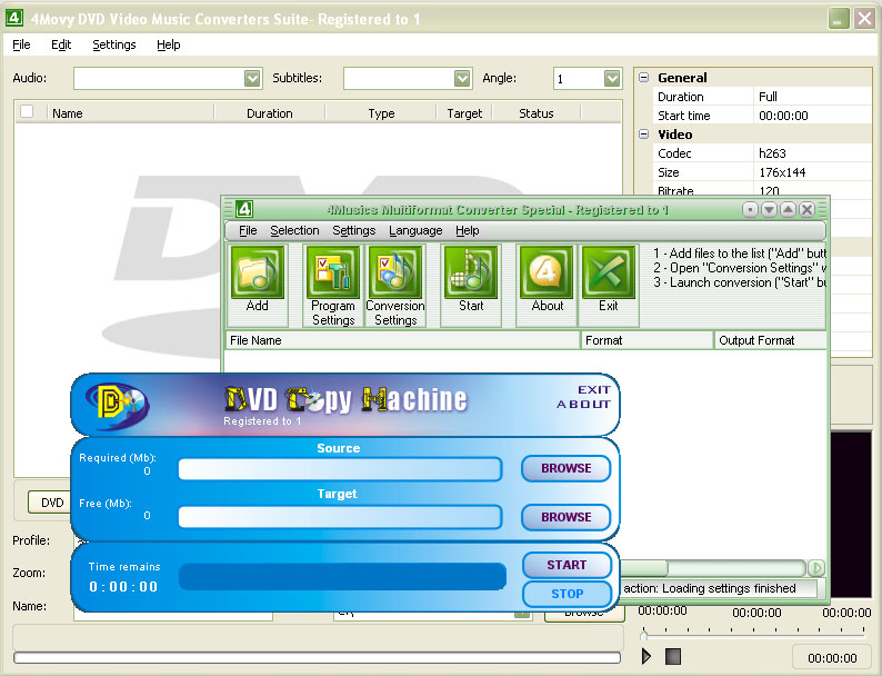 Click to view 4Movy DVD Video Music Converters Suite screenshots